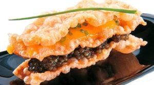 Caviar cracker-starter-AntonioPerbellini