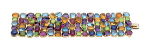 "Bulgari and Rome - ""Allegra"" bracelet in gold with coloured gemstones, 2003."