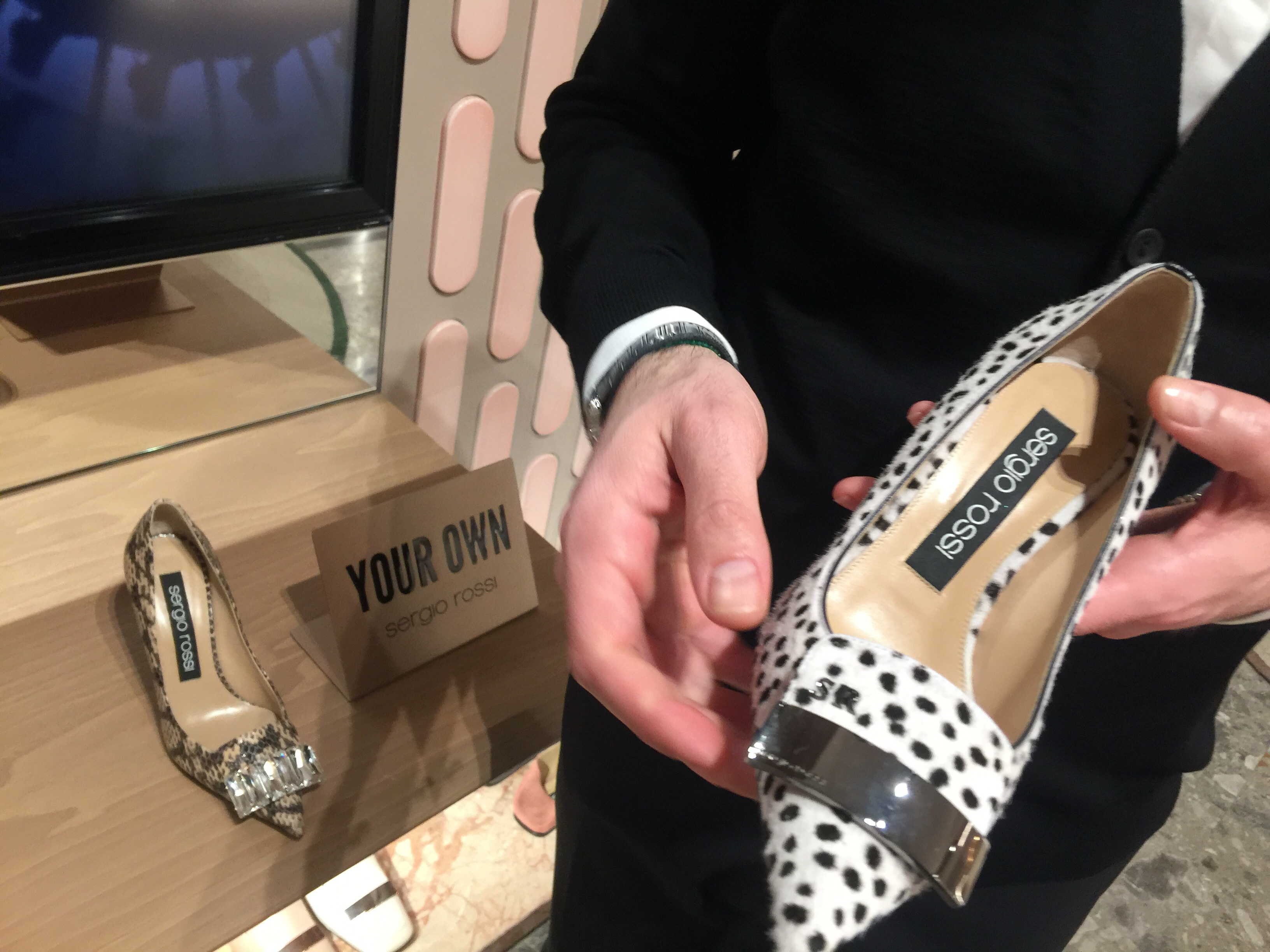 Sergio Rossi -May 2019- Roma Luxury- Shopping in Rome custom pony pumps